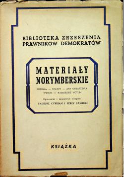 Materiały Norymberskie 1948 r.