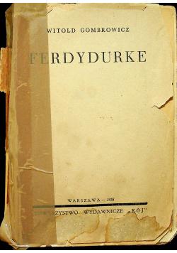 Ferdydurke 1938 r.  I wydanie