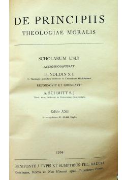 De principiis theologiae moralis 1934r