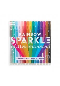 Flamastry z brokatem Rainbow Sparkle Glitter Mark