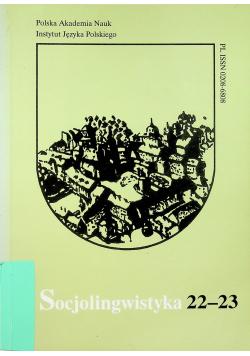 Socjolingwistyka 22 23