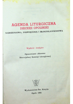 Agenda liturgiczna diecezji opolskiej