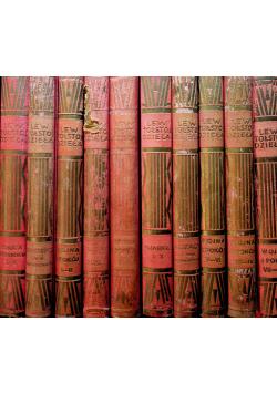 Tołstoj dzieła zestaw 10 książek ok 1930 r