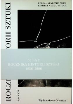 Rocznik Historii Sztuki Tom XXXI
