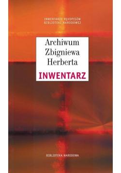 Archiwum Zbigniewa Herberta. Inwentarz