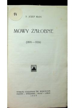 Mowy żałobne 1928r