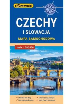 Mapa samochodowa. Czechy i Słowacja