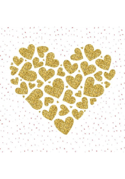 Karnet 155x155 Walentynki - Serce
