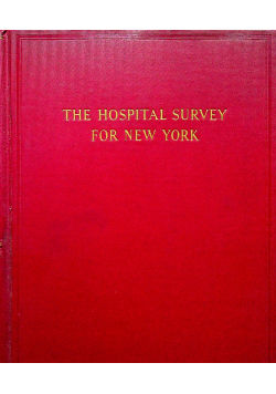 The hospital survey for New York 1937r