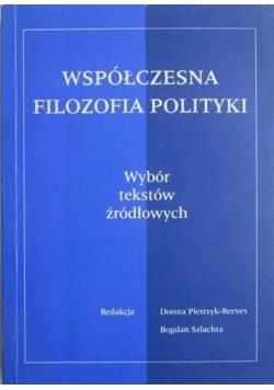 Współczesna filozofia polityki