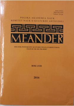 Meander rok LXXI