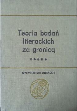 Teoria badań literackich za granicą tom 2 część 3
