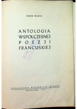 Antologia współczesnej poezji francuskiej 1947r