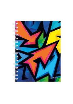 Brulion na spirali A5/100K kratka Neon Art (2szt)
