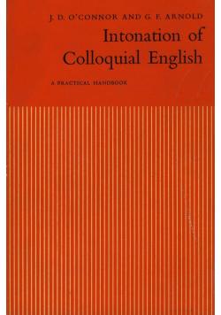 Intonation of colloquial English
