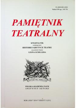 Pamiętnik teatralny Rok LXIII zeszyt 3