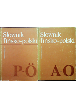 Słownik fińsko polski 2 tomy
