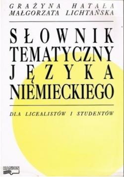 Słownik tematyczny języka niemieckiego dla licealistów i studentów