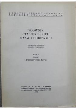 Słownik staropolskich nazw osobowych tom 2  zeszyt 3