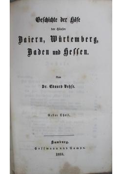Geschichte der gofe Baiern, Wurtemberg baden und hessen, 1953r. 3 w 1