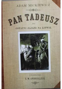 Pan Tadeusz czyli ostatni Zajazd na Litwie reprint 1892 r