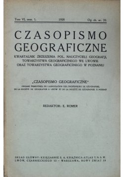 Czasopismo geograficzne tom VI 1928
