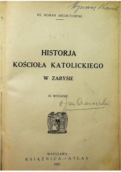 Historja Kościoła Katolickiego w zarysie 1928 r.