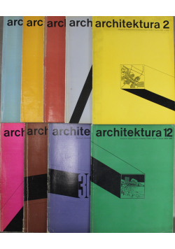 Miesięcznik Architektura 12 tomów