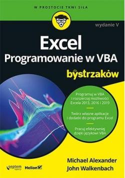 Excel. Programowanie w VBA dla bystrzaków