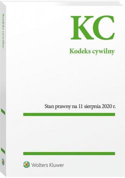 Kodeks cywilny. Przepisy 11.08.2020