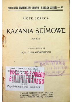 Kazania sejmowe wybór 1925 r.