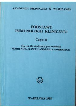 Podstawy immunologii klinicznej Część II