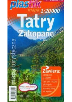 Mapa turystyczna Tatry i Zakopane