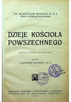 Dzieje Kościoła powszechnego 1925 r.