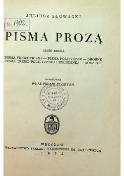 Słowacki Pisma Prozą Cz II