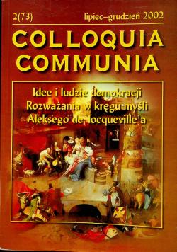 Colloquia communia Nr 2 Idee i ludzie demokrzcji