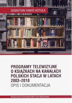 Programy telewizyjne o książkach na kanałach..