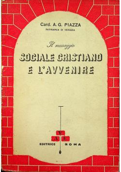 Sociale Cristiano e L avvenire