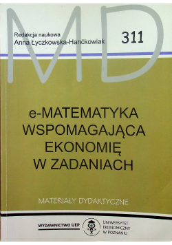 E - Matematyka wspomagająca ekonomię w zadaniach