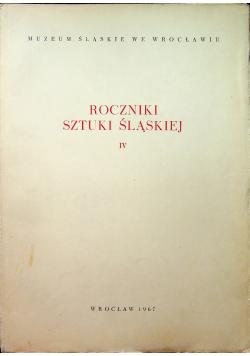 Roczniki sztuki śląskiej IV