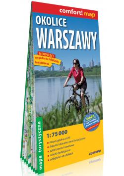 Okolice Warszawy laminowana mapa turystyczna 1:75 000
