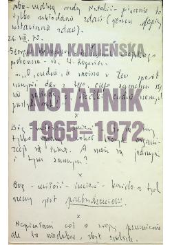 Notatnik 1965 1972