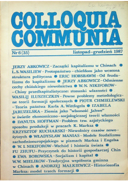 Colloquia communia nr 6