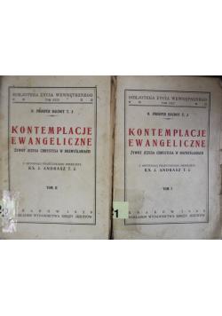 Kontemplacje Ewangeliczne 2 Tomy  1929 r