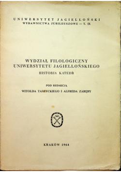 Wydział filozoficzny uniwersytetu jagiellońskiego historia katedr