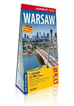 Comfort! map Warsaw 1:29 000 plan miasta w.2020