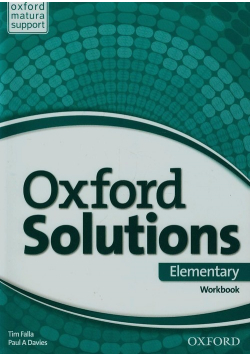 Oxford Solutions Elementary Workbook
