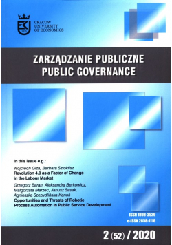 Zarządzanie Publiczne 2 (52) 2020
