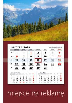 Kalendarz 2020 jednodzielny