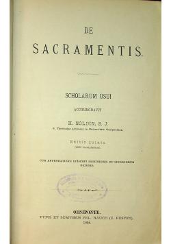 De Sacramentis Scholarum Usui 1904 r